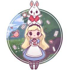 Drawing animals cute disney alice in wonderland ideas Cute Animal Drawings, Kawaii Drawings, Disney Drawings, Cute Drawings, Drawing Disney, Drawing Animals, Kawaii Anime, Kawaii Art, Anime Chibi