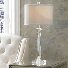 Aline Modern Crystal Table Lamp By Vienna Full Spectrum   #2V709 | Lamps  Plus