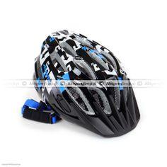 Kask rowerowy dla dziecka Alpina FB Junior 2.0 Black-White-Blue Bicycle Helmet, Black And White, Blue, Black N White, Cycling Helmet, Black White