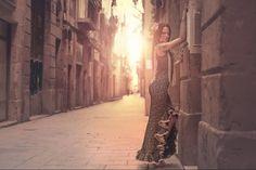Flamenco dress designed by the talented Mercedes Mestre! Barcelona Fashion, Designer Dresses, Dance, Flamingo, Atelier, Dancing, Designer Gowns