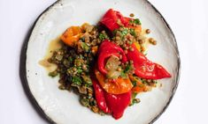 Vegetarian Recipes Dinner, Dinner Recipes, Healthy Recipes, Lentil Bean Recipe, Grilled Halloumi, Nigel Slater, Veg Dishes, Side Dishes, Vegetable Curry