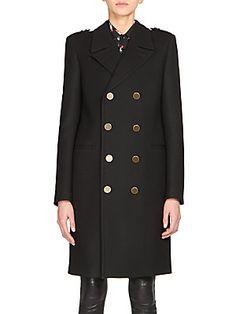 Saint Laurent Wool Double-Breasted Coat