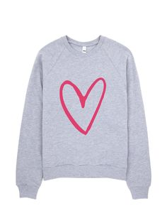 More Love Crewneck Sweatshirt Pink Crew Neck Sweatshirt, Graphic Sweatshirt, Heart Sweater, Dance Quotes, Dance Outfits, Love, Sweatshirts, Sleeves, Sweaters