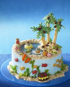 Tropical Summer Cakes  #summer #cakes