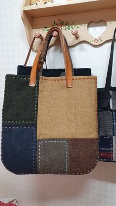 The particular baby blanket – which also includes a minuscule wash Patchwork Bags, Quilted Bag, My Bags, Purses And Bags, Bag Pattern Free, Harris Tweed, Denim Bag, Fabric Bags, Cloth Bags