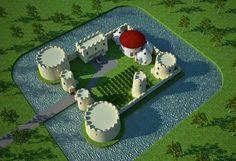 Owen Geiger's Earthbag Dome Fort, on http://earthbagplans.wordpress.com