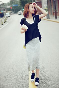 Korean Dress Grey Korean Fashion Dress, Korean Dress, Fashion Dresses, Gray Dress, New Day, Simple Designs, Lace Skirt, Casual Dresses, Skirts