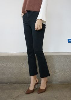 Put together a boss babe look with Daily About Bootcut Jeans! Bikini Images, Korean Women, Boss Babe, Daily Fashion, Porn, Comfy, Fashion Outfits, Denim, Jeans
