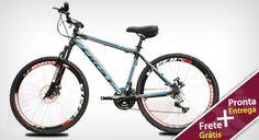 Clickaê | Bicicleta MTB First 21v, Aro 26 Com Freio a Disco! Aproveite o Frete é Grátis!