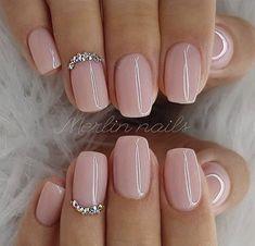 nails one color summer ~ nails one color ; nails one color simple ; nails one color acrylic ; nails one color summer ; nails one color winter ; nails one color short ; nails one color gel ; nails one color matte Natural Acrylic Nails, Best Acrylic Nails, Natural Color Nails, Short Natural Nails, Baby Pink Nails Acrylic, Baby Pink Nails With Glitter, Acrylic Summer Nails Almond, Natural Nail Art, Short Square Acrylic Nails