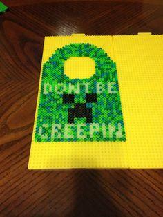 Don't Be Creepin - Minecraft Door Hanger Perler beads by jnjfranklin on deviantART