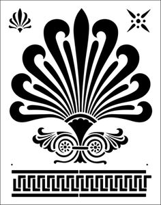 Stencils for the Linemarking Industry Greek Pattern, Pattern Art, Stencil Painting, Fabric Painting, Stenciling, Diy Embroidery, Embroidery Patterns, Stencils Online, Ancient Greek Architecture