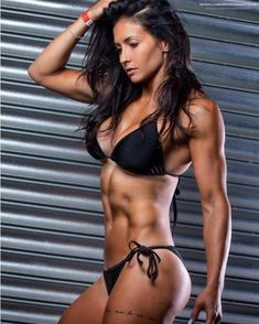A picture of Katie Cork. This site is a community effort to recognize the hard work of female athletes, fitness models, and bodybuilders. Sexy Bikini, Bikini Noir, Black Bikini, Bikini Girls, Bikini Swimwear, Body Fitness, Physical Fitness, Female Fitness, Fitness Women