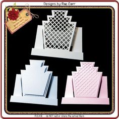 Fancy Fold Cards, Folded Cards, Art Deco Cards, Card Making Templates, Making Cards, Stepper Cards, Slider Cards, Shaped Cards, Easel Cards