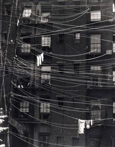 Clotheslines 1923, New York City, New York by Ralph Steiner.