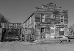 https://flic.kr/p/DWjury | The Old Hotel_BW | The old Ingalls Hotel in Ingalls, Oklahoma. This is a ghost town in Oklahoma.