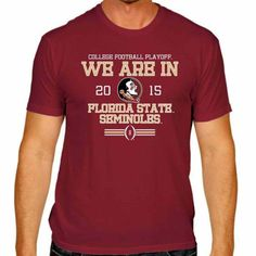 Florida State Seminoles Victory 2015 We Are In College Football Playoff T-Shirt