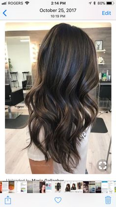Rich brunette with subtle ash tones. rich brunette with subtle ash tones dark brunette balayage Ash Brown Hair Color, Hair Color And Cut, Ash Brown Highlights, Hair Color For Asian Skin Brown, Asian Hair Highlights, Deep Brown Hair, Dark Brown, Brown Curls, Color Highlights