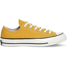 Converse All-Star Ox '70 canvas trainers ($71) ❤ liked on Polyvore featuring men's fashion, men's shoes, men's sneakers, canvas sneakers, lace sneakers, black trainers, star shoes and punk shoes
