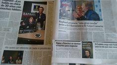 .@RAPHAELartista muy presente hoy en la prensa canaria.