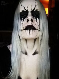 black metal style face paint for halloween - Quick Scary Halloween Costumes