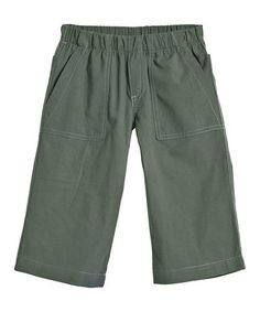 Take a look at this Turtle & Gray Clam Digger Shorts - Infant, Toddler & Kids by City Threads on #zulily today!