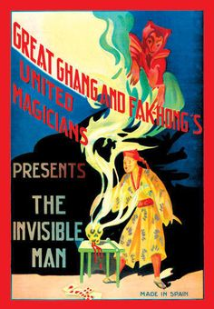 United Magicians Presents - The Invisible Man 20x30 poster-Entertainment | eBay Magician Magic Poster