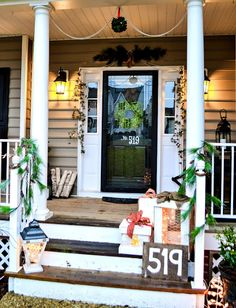 Down to Earth Style: Christmas Porch 2013