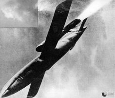 World War 2 was all about fighting with guns, bombs and unguided rockets. Weapons that could reach over long distances were nonexistent. Hitler, enraged by the British bombing of Germany ordered t… Normandy Beach, D Day Landings, Cruise Missile, Ww2 Pictures, The Third Reich, Calais, Battle Of Britain, Luftwaffe, World War Two