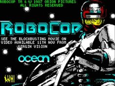 Title Music for the ZX Spectrum version of RoboCop. Composed by Jonathan Dunn. Fun Video Games, Retro Video Games, Retro Games, Computer Video Games, Gaming Computer, Could Play, Old Video, Perler Bead Art, Kids Zone