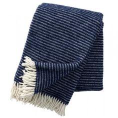 Klippan Ralph Lambswool Blanket - Navy - Klippan from eggcup & blanket UK
