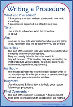 pinterest- examples of procedural texts - Google Search