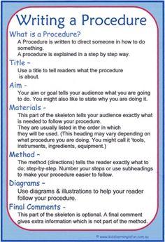 Success criteria procedural writing pinteres fandeluxe Images
