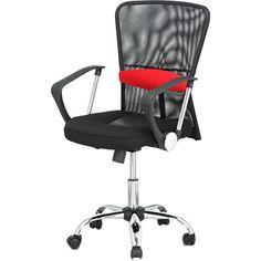Cadeira Executiva NF-118 Preta c/ Vermelho - Classic Home