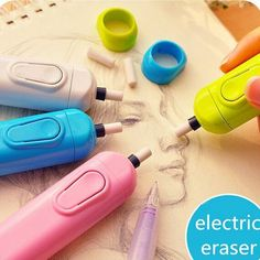 Cheap eraser electric, Buy Quality electric eraser directly from China material escolar Suppliers: Derwent Battery Operated Eraser Electric Eraser Automatic School Supplies Leather Stationery Child Day Gift Material Escolar School Stationery, Cute Stationery, Stationary, Cute School Supplies, Office And School Supplies, School Office, Objet Wtf, Children's Day Gift, Artists For Kids