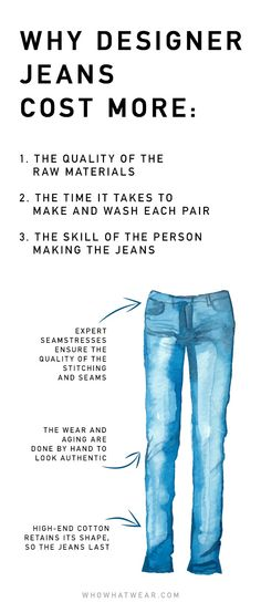 Why designer jeans are so expensive