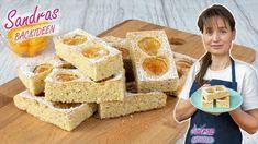 Aprikosen-Mandelkuchen - Rezept von Sandras Backideen Krispie Treats, Rice Krispies, Cereal, Breakfast, Desserts, Youtube, Food, Almonds, Sheet Cakes