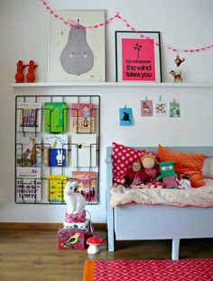 playroom. Awesome book storage. #kids