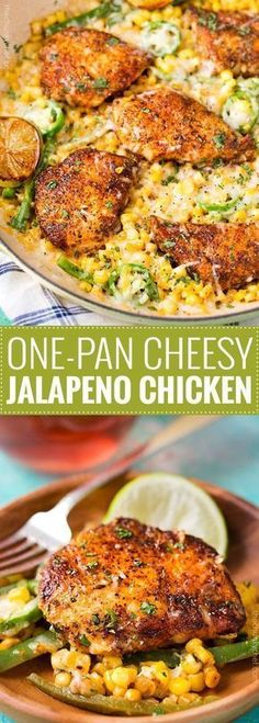 Pan Cheesy Jalapeño Chicken One Pan Cheesy Jalapeño Chicken - An easy weeknight meal, bursting with flavor, smothered in melty cheese, and on your table in 20 minutes!Table Table may refer to: Easy Weeknight Meals, Easy Meals, Easy Summer Meals, Cooking Recipes, Healthy Recipes, Free Recipes, Recipes For Four, Gourmet Recipes, Delicious Recipes