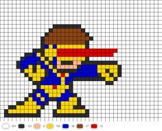 Cyclops Shooting Perler Pattern