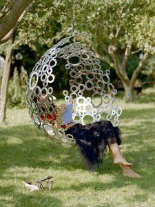 What a gorgeous garden swing/seat. Bubble Swing by Steven Myburgh of www. Welding Art, Welding Projects, Art Projects, Welding Crafts, Welding Ideas, Project Ideas, Yard Art, Sculpture Metal, Welded Metal Art