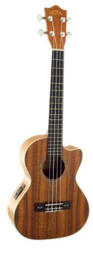 """Lanikai CK-TEQ Curly Koa Tenor Ukulele with Pickup by Lanikai. $339.00. Features: Used to make ukuleles for over a century, rare Hawaiian Koa wood is especially prized for its distinctive curly grain. Grown mostly on the big island of Hawaii these woods have a crisp tone unlike any other. Scale Length: 17.25"""" Width at Nut: 35mm Top: Curly Koa Back/Sides: Curly Koa Fretboard: Rosewood Electronics: Belcat UK2000 Number of frets: 19 Machines: Chrome Die-Cast Binding: Maple Case/Ba..."""