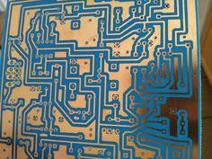 Picture of DIY PCB using Liquid Photoresist