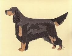 Gordon Setter Cut Up by CanineCutUps on Etsy