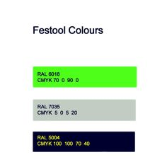 RAL colours ( color ) of Festool products ? Festool Tools, Festool Systainer, Tool Workbench, Van Racking, Shop Work Bench, Ral Colours, Garage Tools, Wood Joinery, Tool Organization