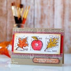 Weekender with Wanda – Getting ready for Autumn with Tim Holtz Blueprint Stamps! Distress Inks.