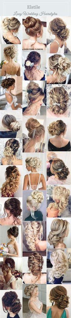 Elstile Wedding Hairstyles & Updos for Long Hair / http://www.deerpearlflowers.com/wedding-hairstyles-for-long-hair/ #weddinghairstyles