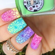 Moo Moo Rainbow Flowers Bath Collection stamped with @bundlemonster Festival Collection BM-S301