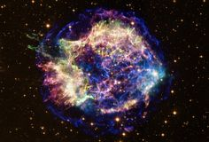 Cassiopeia A is the result of a Supernova explosion that occurred hundreds of years ago.  Image: NASA/Chandra/Hubble  Learn to Skywatch‏ @Learntoskywatch   Twitter