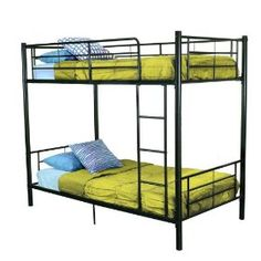 Walker Edison Twin-Over-Twin Bunk Bed, Black $219.85